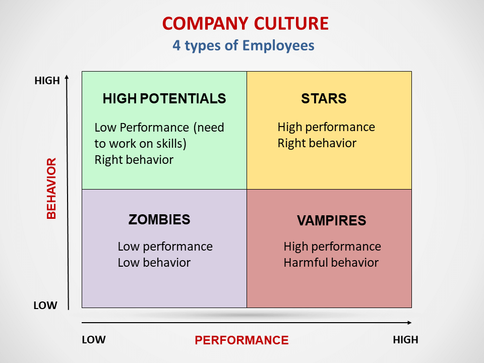 Company culture- 4 types of employees