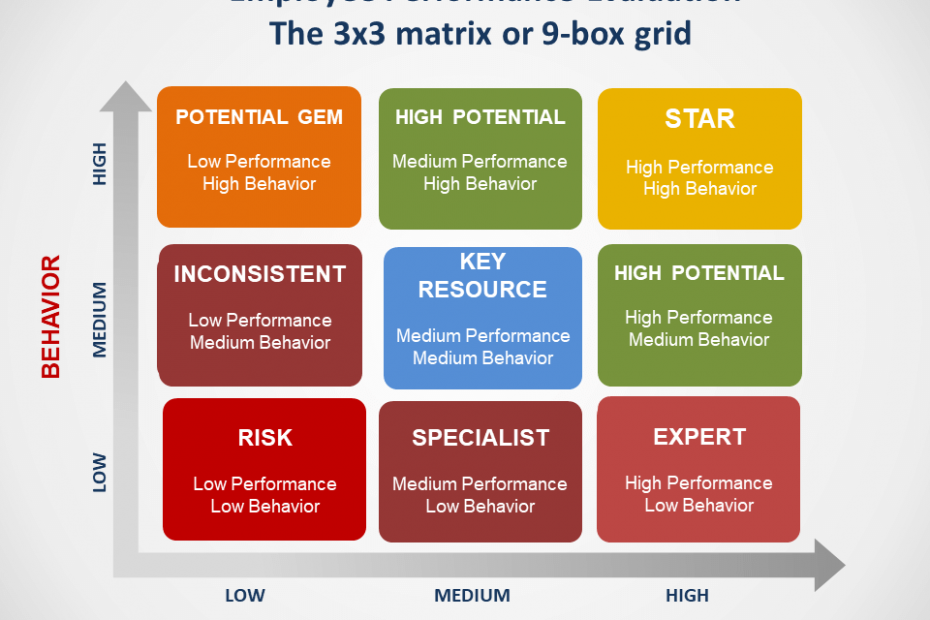 Employee Performance Evaluation- 3x3 matrix or 9-box grid