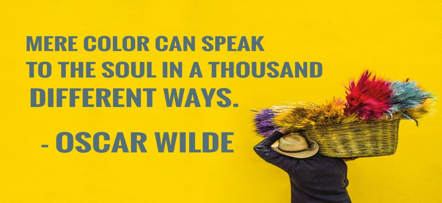 The psychology of colors quote by Oscar Wilde